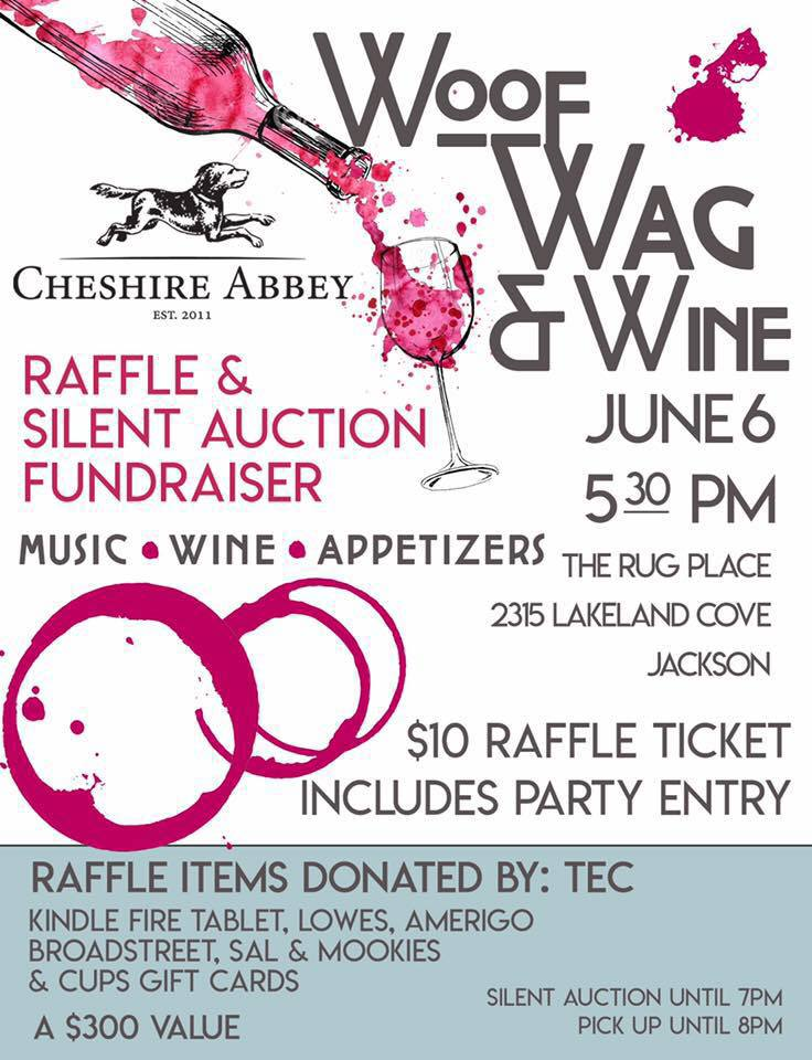Cheshire Abbey S Woof Wag Wine Raffle And Silent Auction Raffle