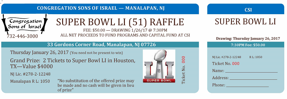 2 Super Bowl LI (51) Tickets + $1,000 Travel Voucher | Raffle Creator